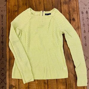 Women's Lime Green American Eagle Sweater Small